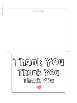 Printable Thank You Cards for Parents, Teachers, and Coworkers