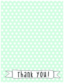 Printable Teacher Thank You Notes