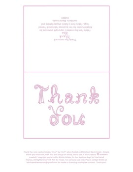 photograph relating to Printable Blank Note Cards identified as Printable Thank on your own blank notice card with gentle lavender cloth font letters
