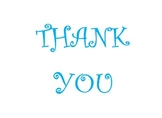 Printable Thank you card - Blue