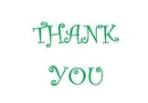 Printable Thank you card - Green