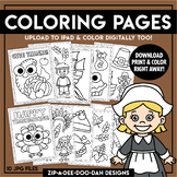 Printable Thanksgiving Coloring Pages {Zip-A-Dee-Doo-Dah Designs}
