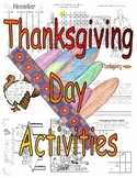 Printable Thanksgiving Day Activities