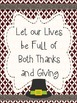 Printable Thanksgiving Decoration Poster Set