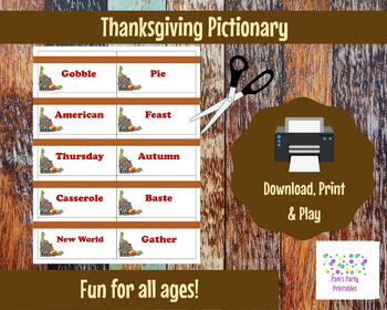 graphic relating to Printable Thanksgiving Games called Printable Thanksgiving Activity Playing cards for Pictionary, Charades and 20 Concerns