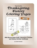 Printable Thanksgiving History Coloring Pages