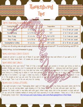 Printable Thanksgiving Organization Binder