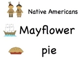 """Printable Thanksgiving Vocabulary Words (with """"Native Americans"""" not """"Indians"""")"""