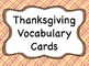 """Printable Thanksgiving Vocabulary Words (with """"Native Amer"""