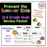No PREP Printable Third Grade Math Skills Review- Prevent the Summer Slide