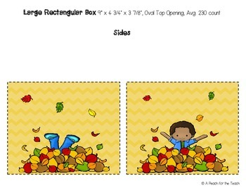 Printable Tissue Box Covers: Fall Theme (includes six size options)