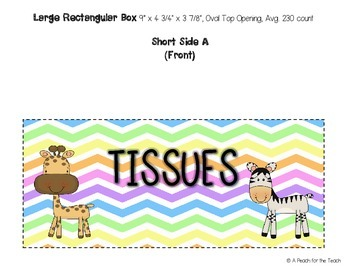 Printable Tissue Box Covers: Jungle Chevron (includes six size options)