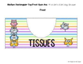 Printable Tissue Box Covers: Owl Theme (includes six size options)