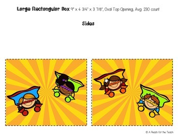 Printable Tissue Box Covers: Superhero Theme (includes six size options)