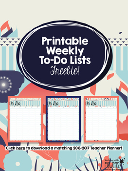 Printable To Do Lists: Navy & Red