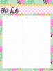 Printable To Do Lists: Pink, Green & Gold
