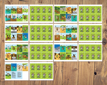 Alphabetimals™ Animal ABC Game Cards - A-Z Print & Cut Cards