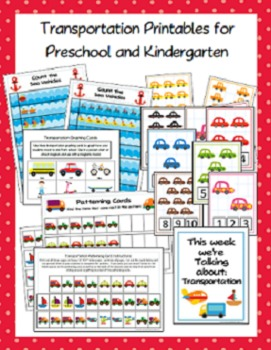 Printable Transportation Activities for Preschool and Kindergarten
