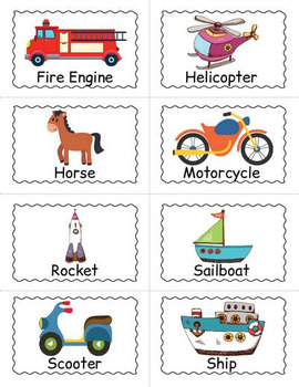 Printable Transportation Bingo Game
