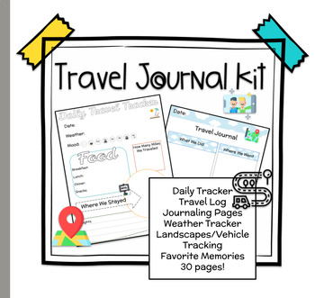 picture about Travel Journal Printable named Printable Generate Magazine Memory Trip Monitoring Package - Grades 3 and up!