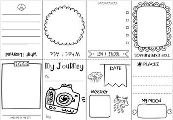 Travel Journal Template Printable from ecdn.teacherspayteachers.com