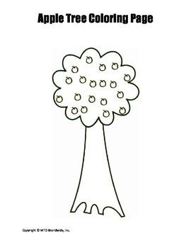 Printable Tree Coloring Page Worksheet
