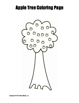 Printable Tree Coloring Page Worksheet