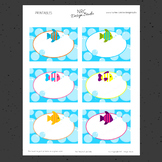 Printable, Tropical Fish, Frame, Name Tags - Classroom Decoration