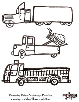 Printable Truck Coloring Sheet