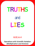 Printable Truths and Lies - Multiply and Divide with Scien