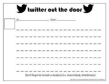 Printable Twitter Response Sheets