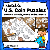 Printable US Coin Puzzles in B&W & Color ~ For Coin Recogn