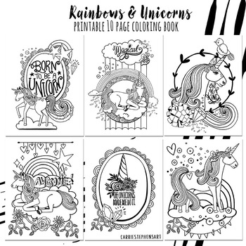 82 Coloring Pages Unicorn With Rainbow Images & Pictures In HD