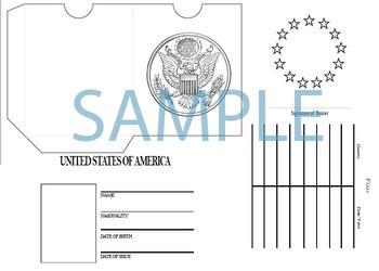 Printable United States passport