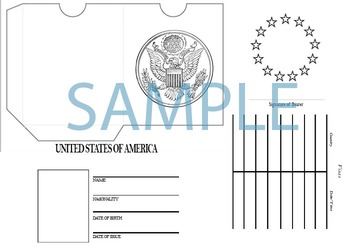 Printable United States passport