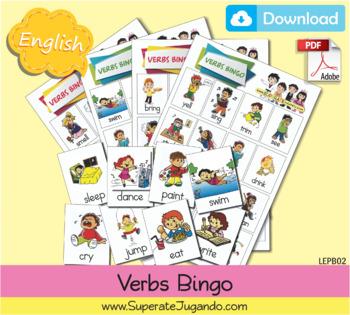 Printable Verbs / Actions Bingo - Lotería de Verbos/Acciones para Imprimir