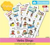 Printable Verbs / Actions Bingo - Lotería de Verbos/Accion