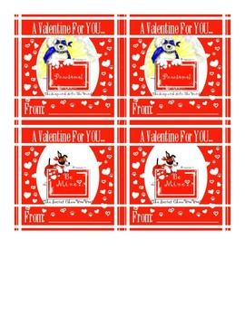 Printable Valentine Cards 4 up