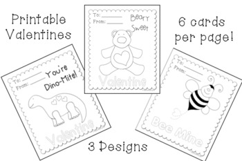 Printable Valentine Cards - Freebie - Crayonbox Learning