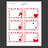 Printable Tags, Valentine, Labels, Name Tags - Classroom D