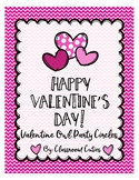 Printable Valentine Owl Party Circles/Valentine Cupcake Toppers