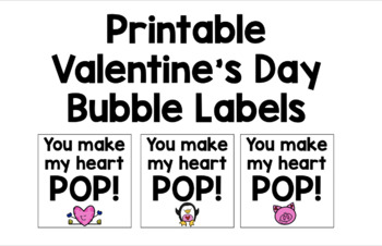 graphic regarding Valentine Labels Printable identify Printable Valentines Working day Bubble Labels
