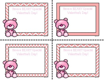 Printable Classroom Valentine's Day Cards