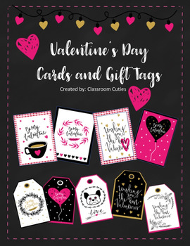 Printable Valentine's Day Cards and Tags