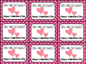 Printable Valentine's Day Gift Tag and Homework Pass (You are so sweet)