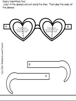 Printable Valentine's Day Glasses Activity (FUN Reading Glasses!)