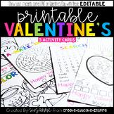 Printable Valentine's (EDITABLE)