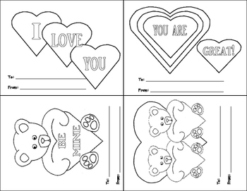 image relating to Printable Valentines Black and White named Printable Valentine Playing cards Worksheets Academics Fork out Academics