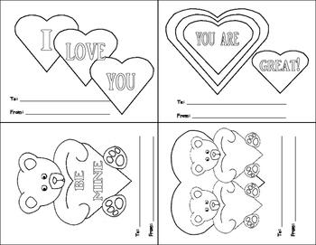 Printable Valentines Cards and Valentines Crown