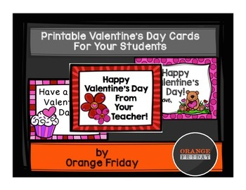 Printable Valentine's Day Cards For Your Students